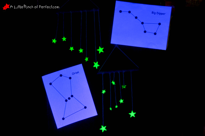 ... Make a Hanging Glow in the Dark Star Constellation Craft + Printable