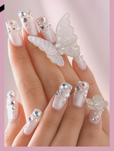 Beautiful Nails Art Design For Bridal