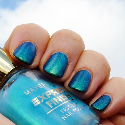 Maybelline Aqua Duochrome Nail polish Swatch