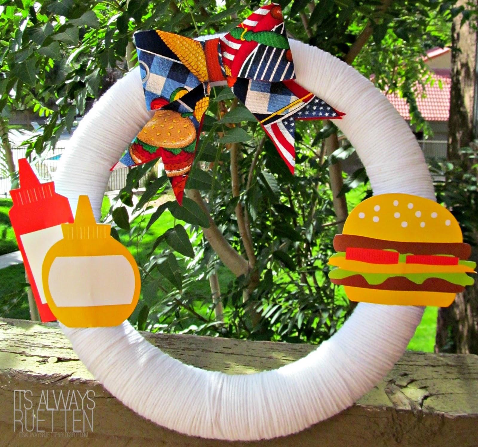 It 39 s always ruetten labor day wreath - Labor day decorating ideas ...