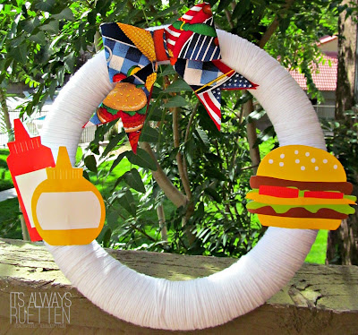 Labor Day Wreath from It's Always Ruetten
