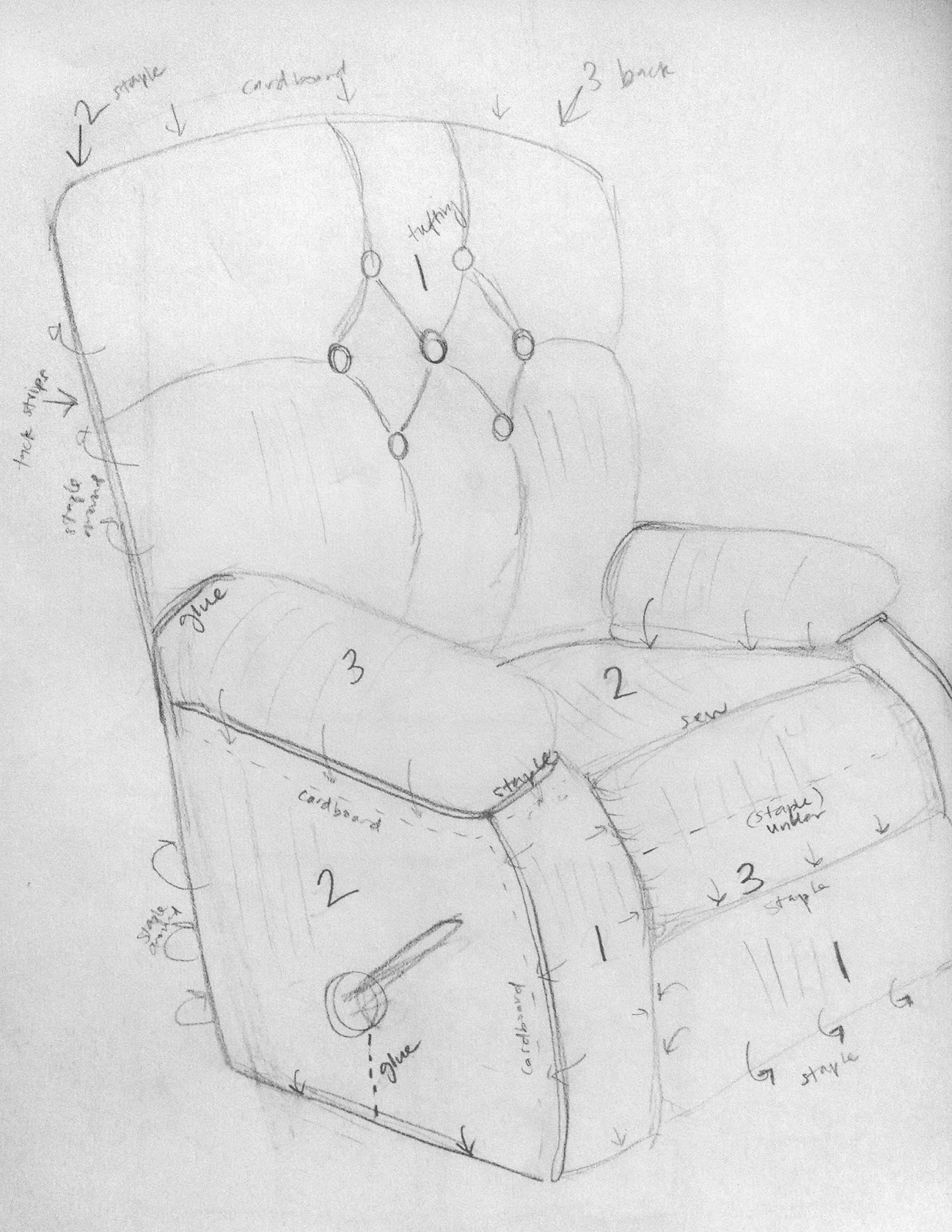 All Things Campbell How to Make a LaZBoy Recliner Less Ugly Part 2 – Lazy Boy Wiring Diagram