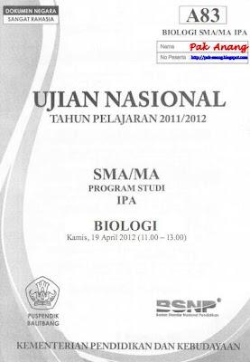 Berikut ini adalah kunci dan pembahasan soal UN Biologi SMA  Pembahasan Soal UN Biologi SMA 2012