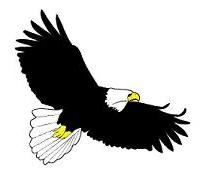 flying eagle clip art - photo #12