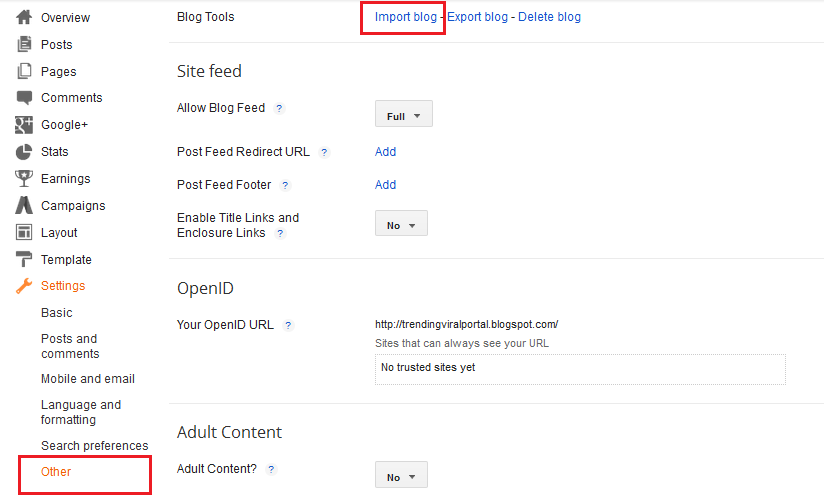 How to Import Wordpress to Blogger