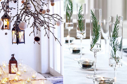 D co une table festive r cup 39 et nature louise - Idee deco arbre de noel ...