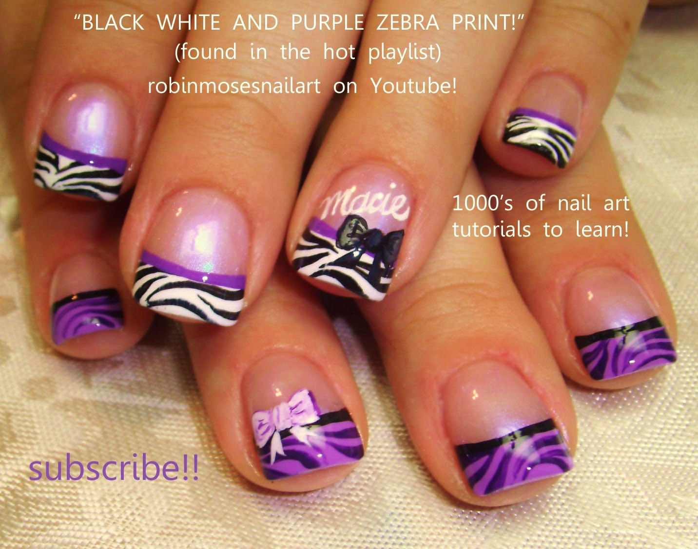 Zebra Nails Silver And Black Nails Silver And Black Design