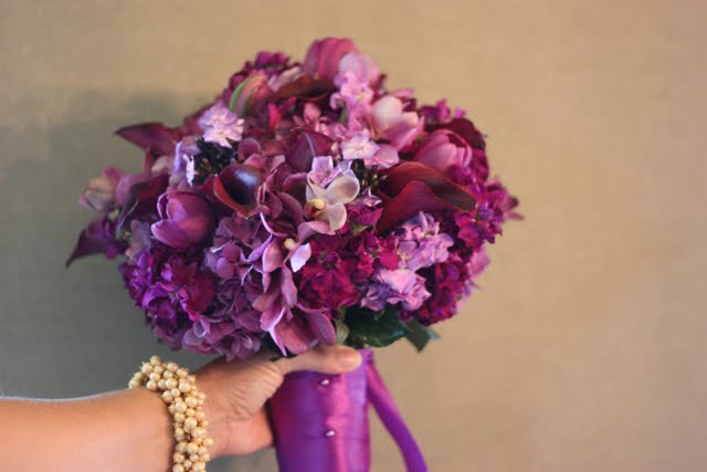 Wedding Flowers: Purple and Red Wedding Flowers