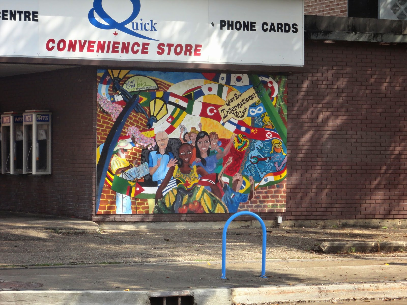 """West End International Village"" by Roberta Hansen (2009) - 7 x 16 Convenience Store, 495 Sargent Avenue"