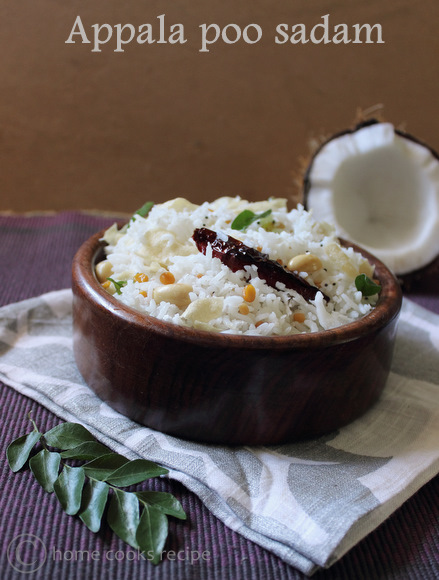 Appala poo sadam ~ Coconut Rice with Appalam