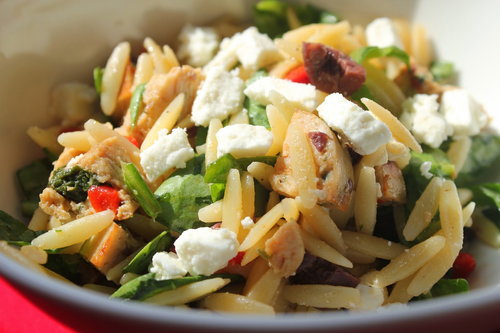 Delicious Dishings: Orzo Salad With Chicken Sausage ...