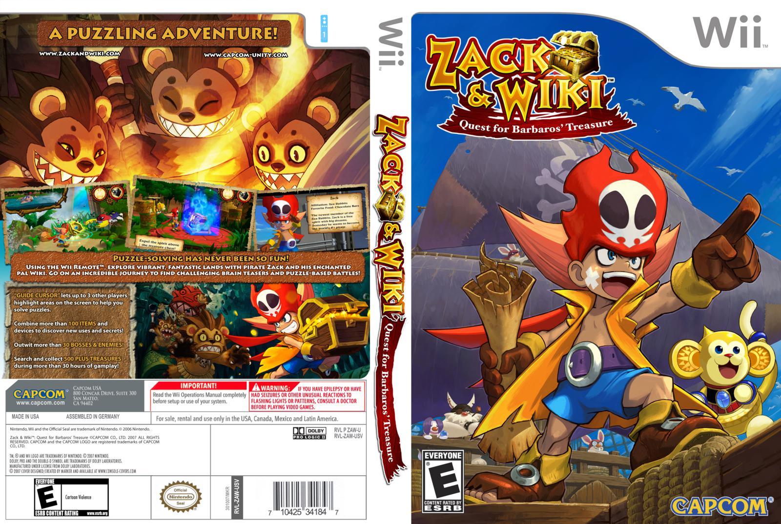 Games de Wii convertidos para Wii U  Zack+And+Wiki+Quest+For+Barbaros+Treasure+