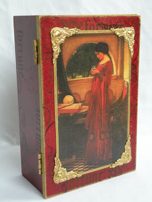Upcycled Tarot Storage Box with Waterhouse Art Print also by Moma Fauna.
