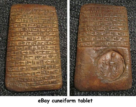Ancient heritage cuneiform tablet on ebay legal dilemma a nice big cuneiform tablet sold on ebay last month for 410 approx us 680 after a frenzied battle of bids from a starting price of 99p publicscrutiny Choice Image