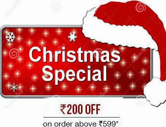 Giftease Christmas Special: Get Flat Rs.200 off at Rs.599 andExtra 20% off at Rs.1499