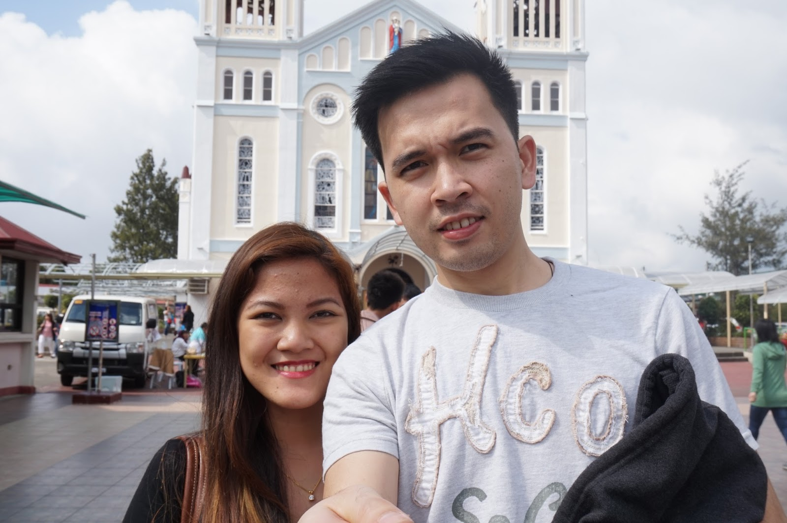 Earvin Sanchez and Angelie Pangilinan at Baguio Cathedral