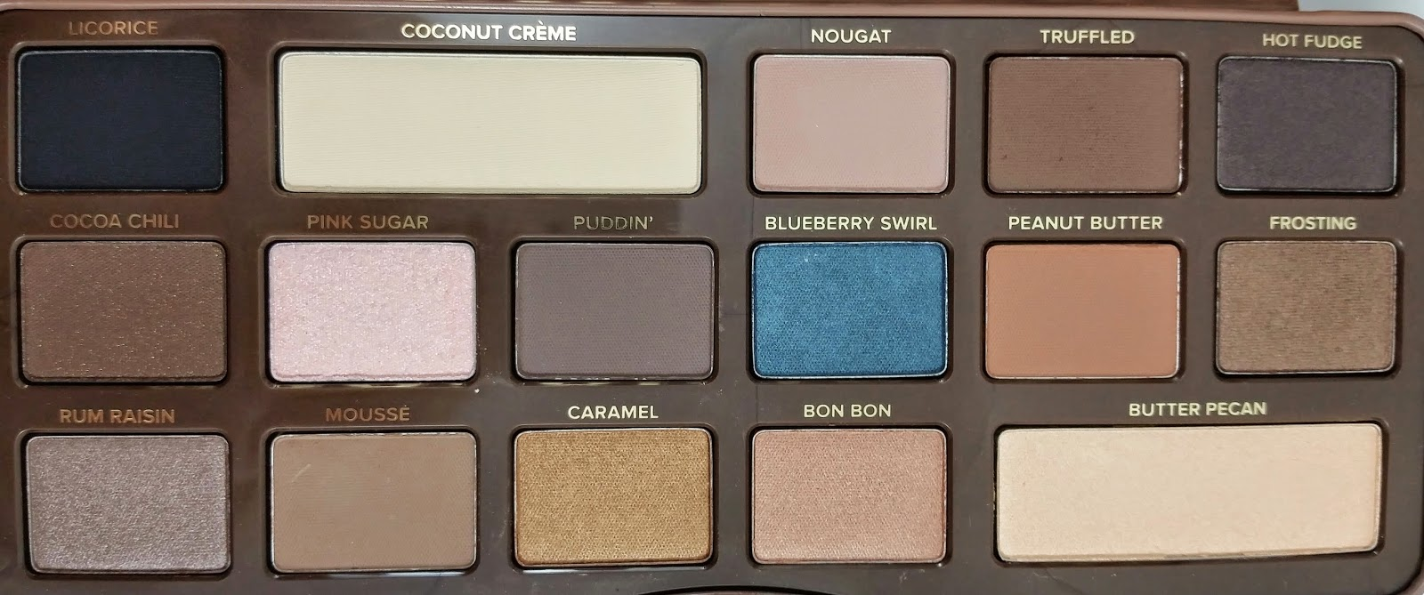 too faced semi sweet chocolate bar review swatches