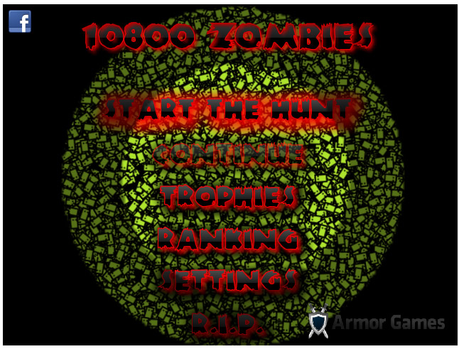Armor Game : 10800 Zombies