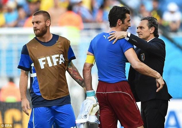 italia kalah dari uruguay dan gagal di piala dunia 2014