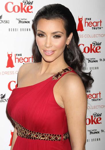 Glamorous sexy Kim Kardashian