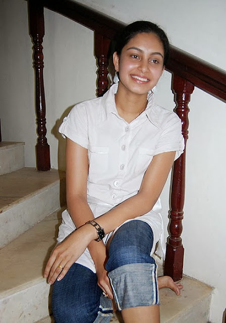 Abhinaya In White Shirt And Jeans