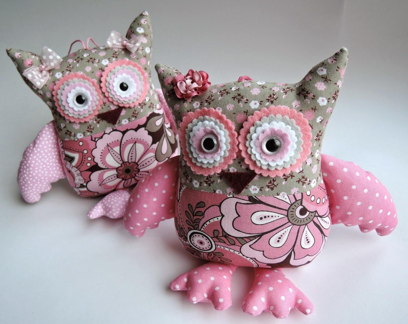 розовые совы для интерьера