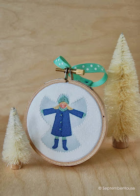 Snow Angel Holiday Ornament Handmade by SeptemberHouse