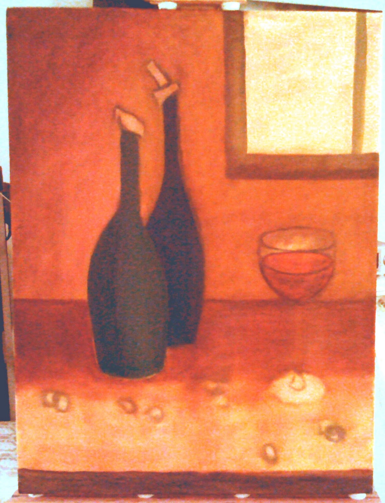 150225 - Abstract Bottles 002b 24x18 oil on stretched canvas - Dave Casey - TheDailyPainter.jpg