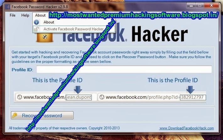 Facebook Password Hacker V2.9.8 Key Generator