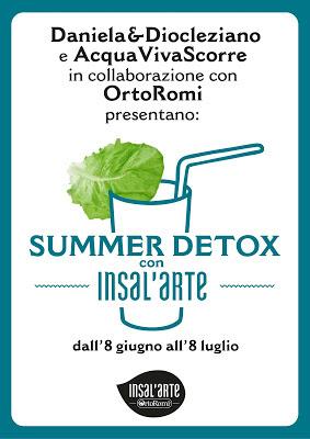 """"""" summer detox con insal'arte """" le ricette vincenti."""