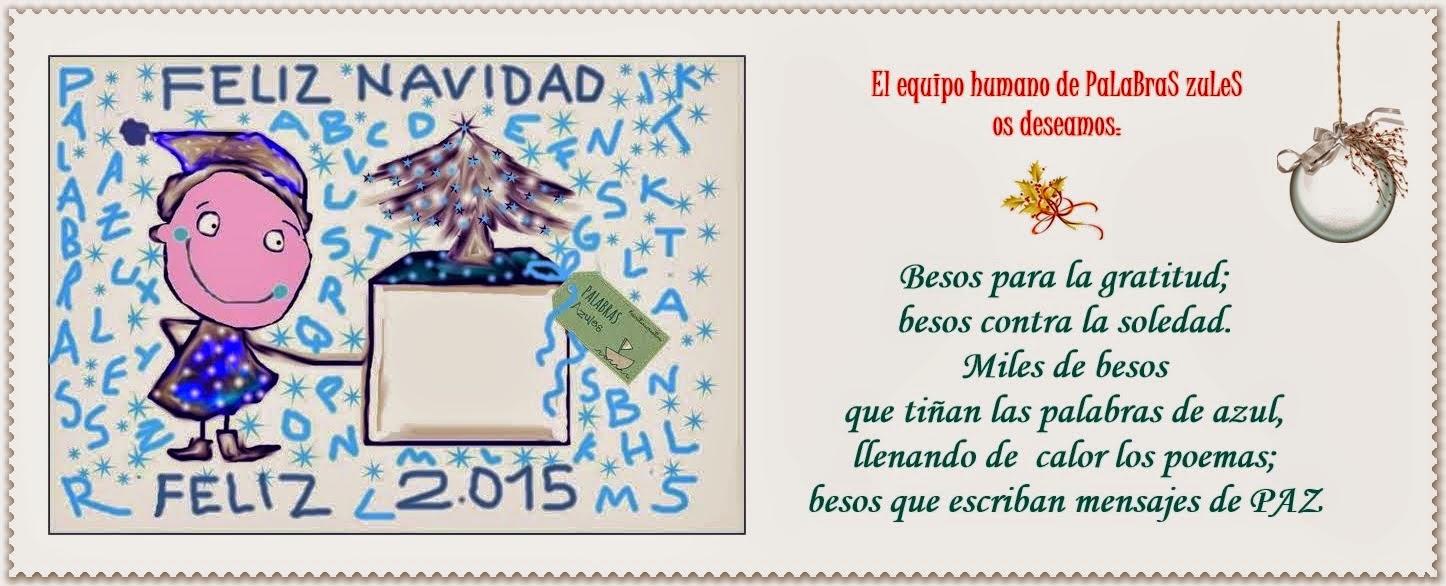 Felicitación de Navidad PaLaBraS AzuLeS