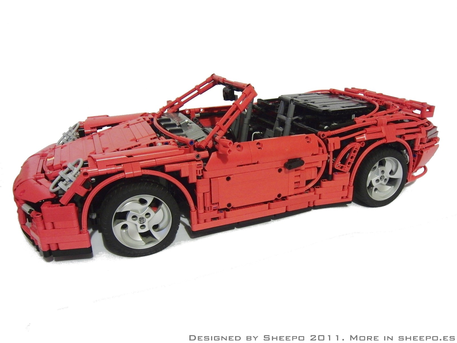 Porsche 911 997 Turbo Cabriolet Pdk Video A Lego Creation By