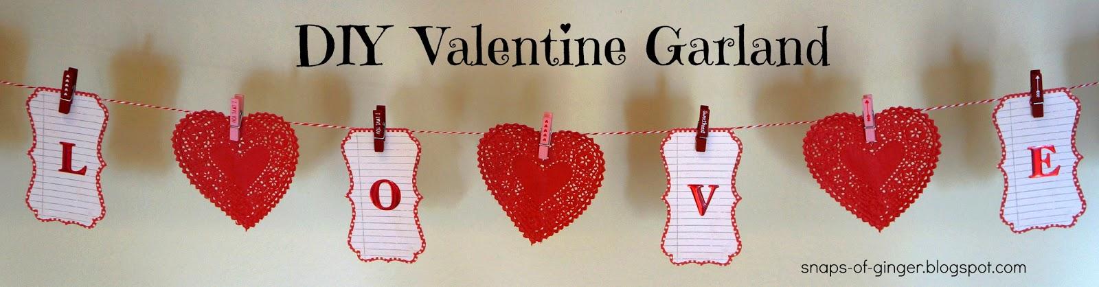 DIY Valentine Garland