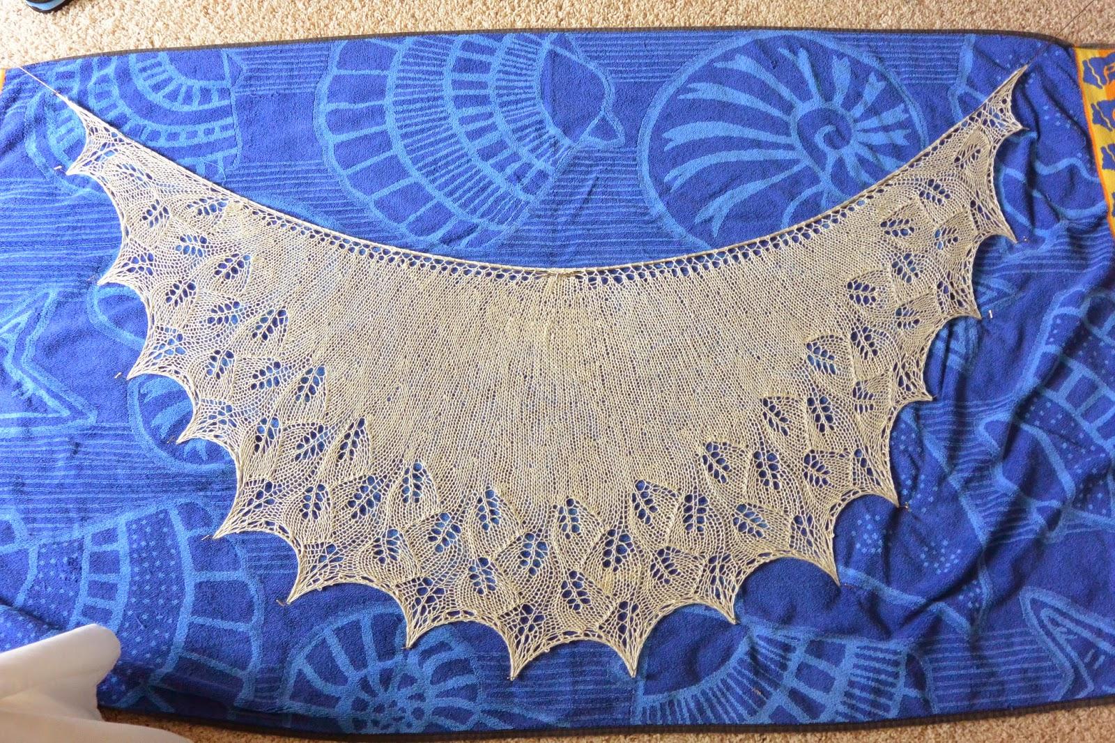 Will Knit For Math Ginkgo Crescent Shawl
