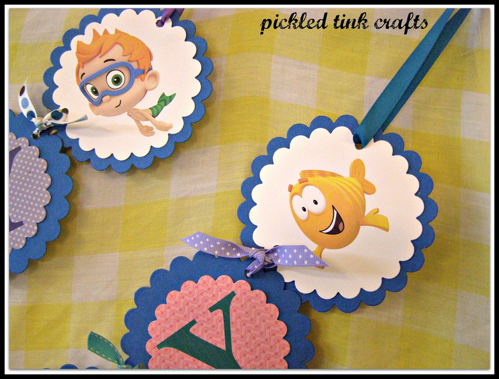 pickled tink crafts bubble guppies happy birthday banner