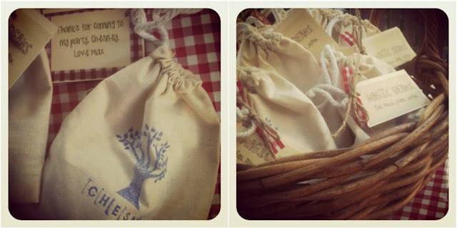 Farm party favour bags