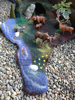 Wet Felted Playscape - The Story of Baby Bear