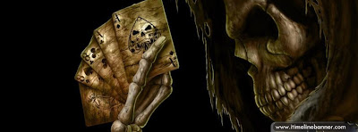 Skull Playing Card Facebook Timeline Cover