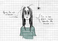 Les matins sont rudes aux pays des carnets qui gondolent… demain, ça devrait aller mieux (et pour les araignées, et pour les carnets).