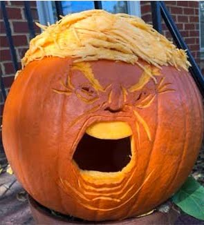 Which is the Real Trump? The pumpkin head ...
