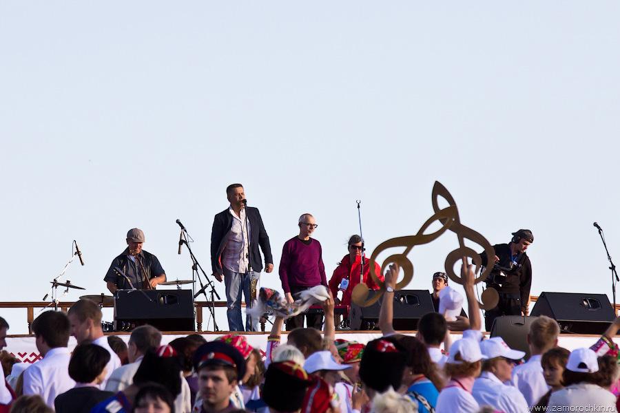 Группа Любэ на праздновании Тысячелетия единения мордовского народа с народами России