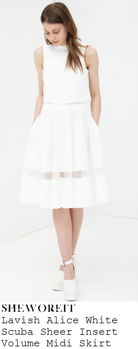 ferne-mccann-white-high-waisted-sheer-mesh-panel-full-midi-skirt-marbella
