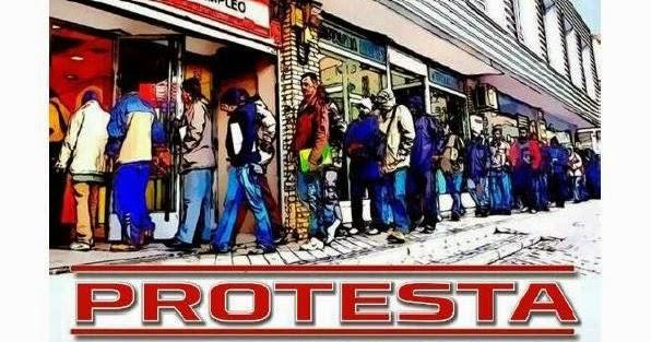 Burgosdijital 30 de abril concentraci n protesta en los for Oficina inem burgos