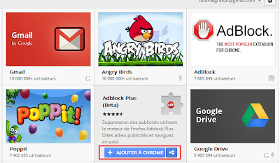 installer une extension Chrome