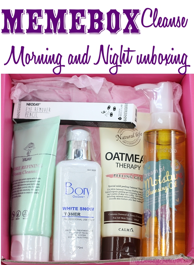 Memebox Cleanse Morning & Night beauty box review, unboxing