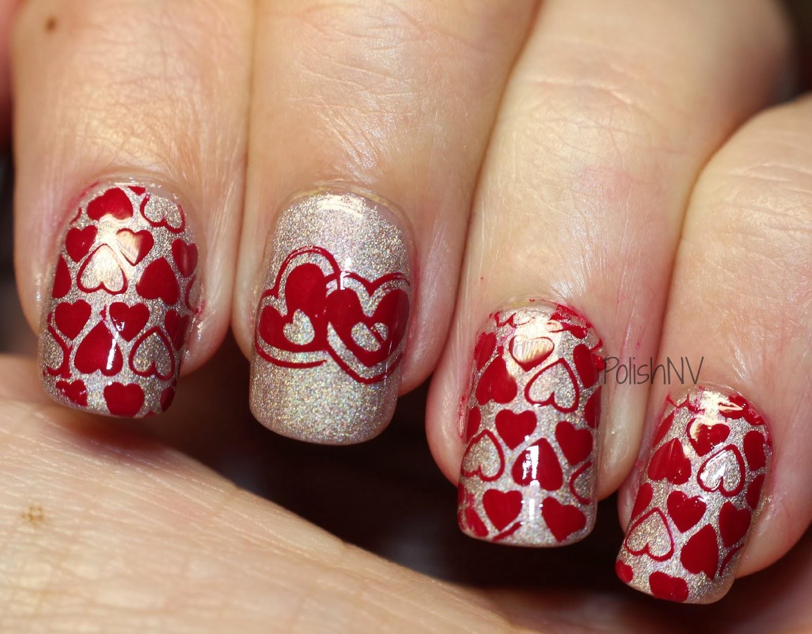valentine nail stamping