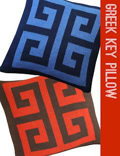 Happy Habitat Greek Key Throw Pillows