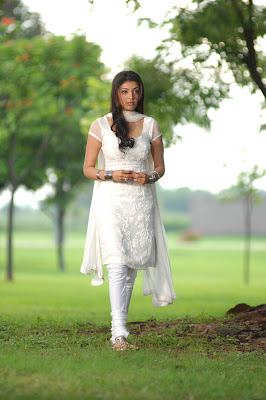 kajal agarwal in white salwar cute stills