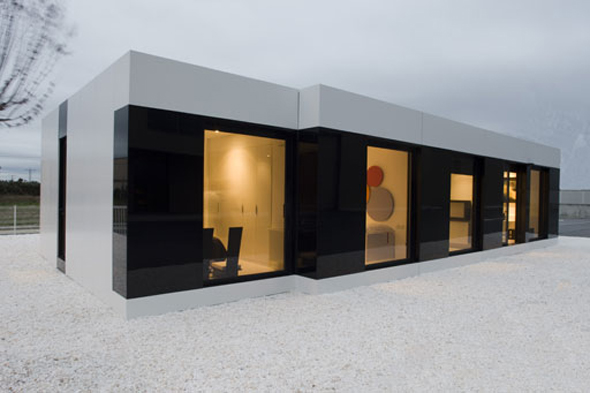 Modern elegant sleek and modern white cube house by a cero for Modern cube house plans