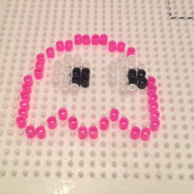 Hama Beads Pac Man Ghost Pattern 2
